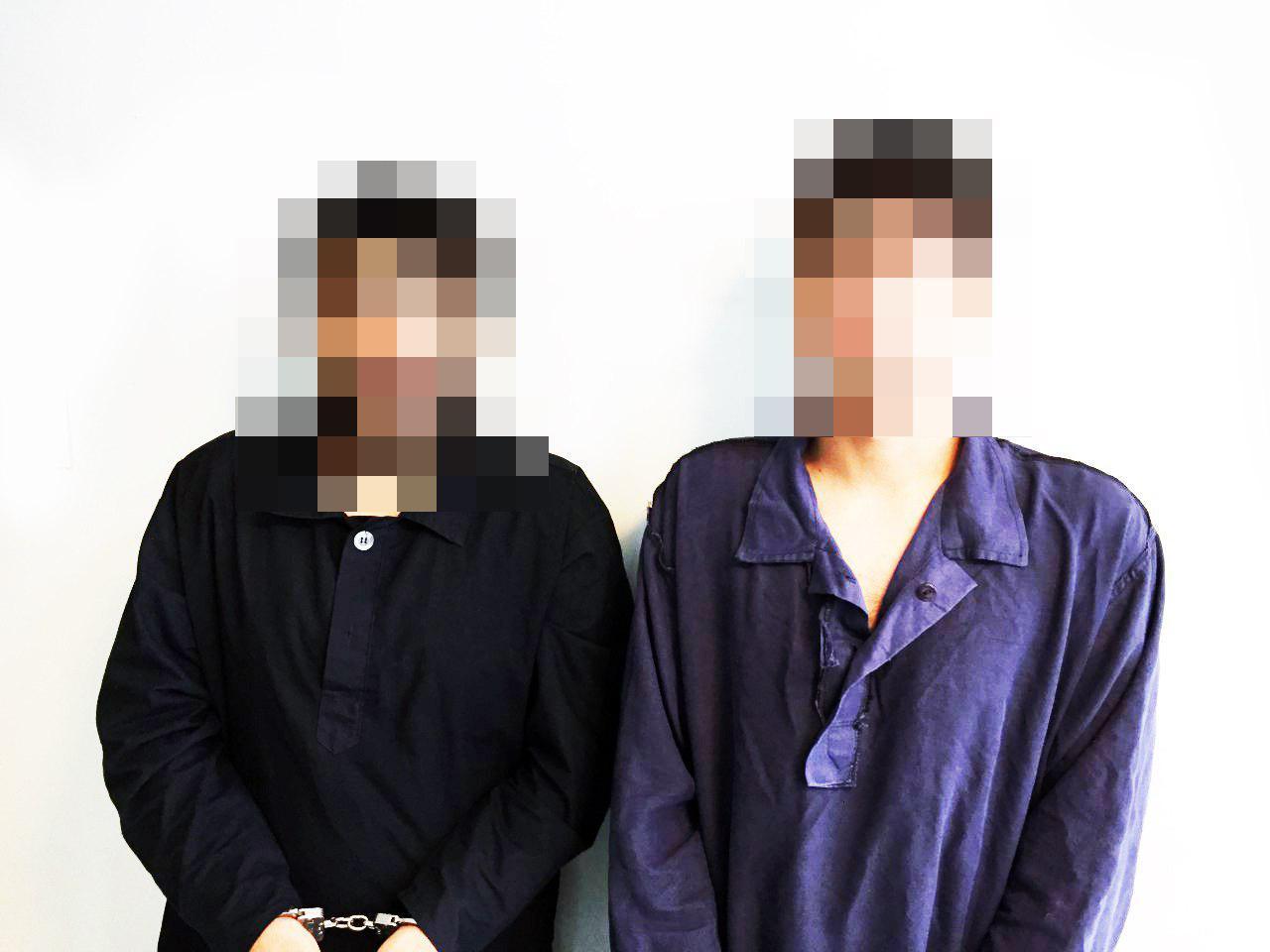 دستگیری 2 گوشی قاپان حرفه ای در تهران + عکس