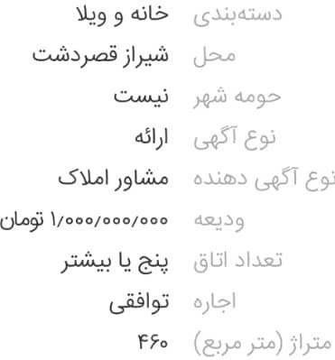 گرانترین خانههای اجارهای شیراز؛ ملکی با ۵۰۰ میلیون تومان رهن و اجاره ۲۰ میلیونی!+ تصاویر