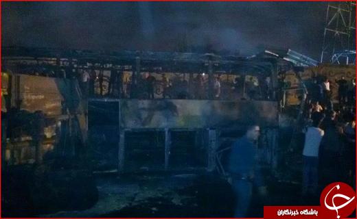 حادثه دلخراش در سنندج/ آمار کشتههای تصادف تانکر سوخت با اتوبوس به ۱۱ نفر رسید/ اعلام سه روز عزای عمومی در استان کردستان + فیلم و تصاویر
