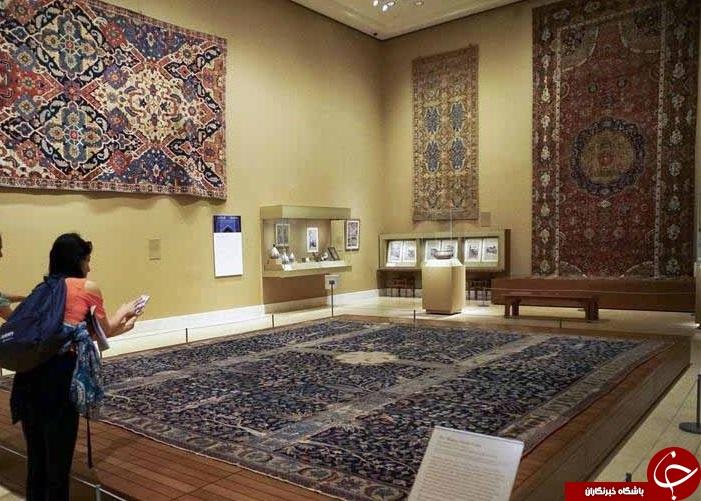 نمایش فرش ایرانی «باغ بهشت» در موزه نیویورک+ عکس