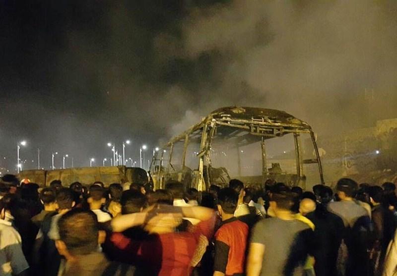 اسامی جان باختگان حادثه برخورد تانکر با اتوبوس در سنندج اعلام شد