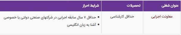 استخدام معاونت اجرایی در یک شرکت معتبر در غرب تهران