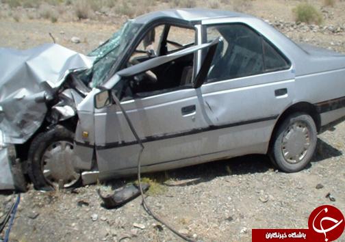 مرگ راننده در پی واژگونی خودرو پژو +عکس