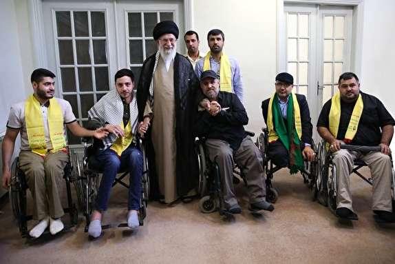 باشگاه خبرنگاران -جمعی از جانبازان حزب الله لبنان با رهبر انقلاب دیدار کردند