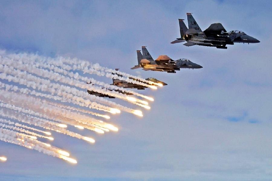 حمله جنگندههای ائتلاف آمریکایی به البوکمال سوریه