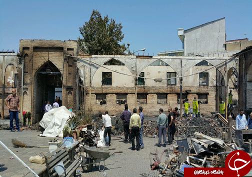 آغاز آواربرداری مسجد جامع ساری +تصاویر