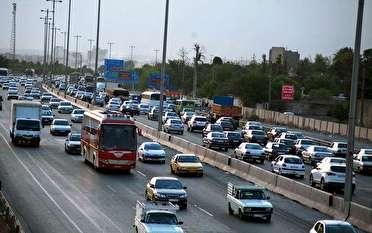 ترافیک نیمه سنگین در ورودی و خروجی های مشهد