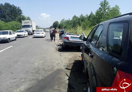 ۵ فوتی و مصدوم در تصادف ۲ خودرو در صومعه سرا
