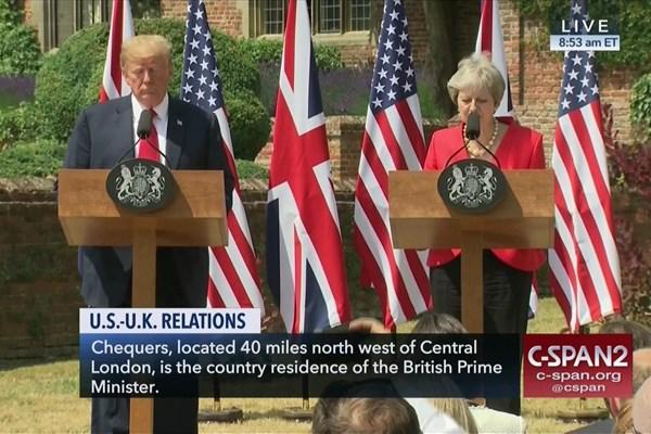 ترزا می: توافق کردیم با نفوذ تهران در خاورمیانه مقابله کنیم/ ترامپ: باید تروریسم ایران را متوقف کنیم