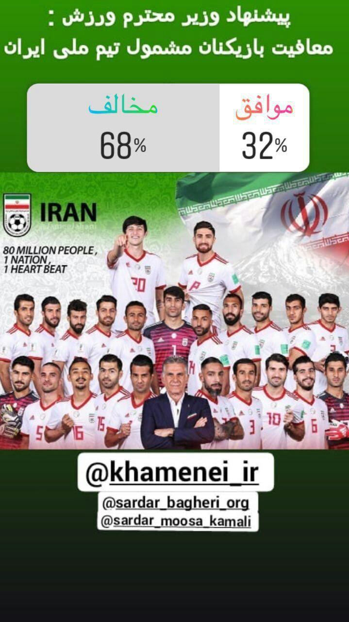 حمایت کاربران از تصمیم سردار کمالی در مخالفت با معافیت سربازی 7 فوتبالیست