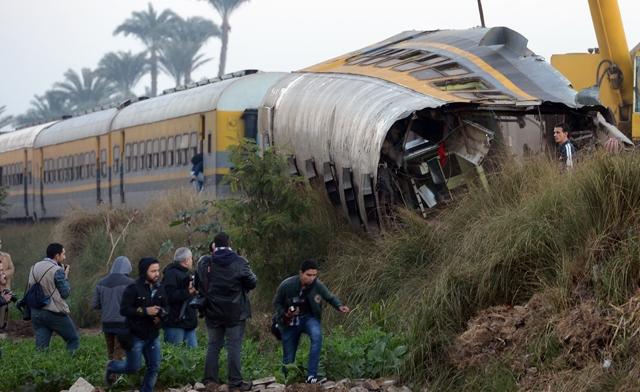 خروج قطار مسافربری از ریل در مصر