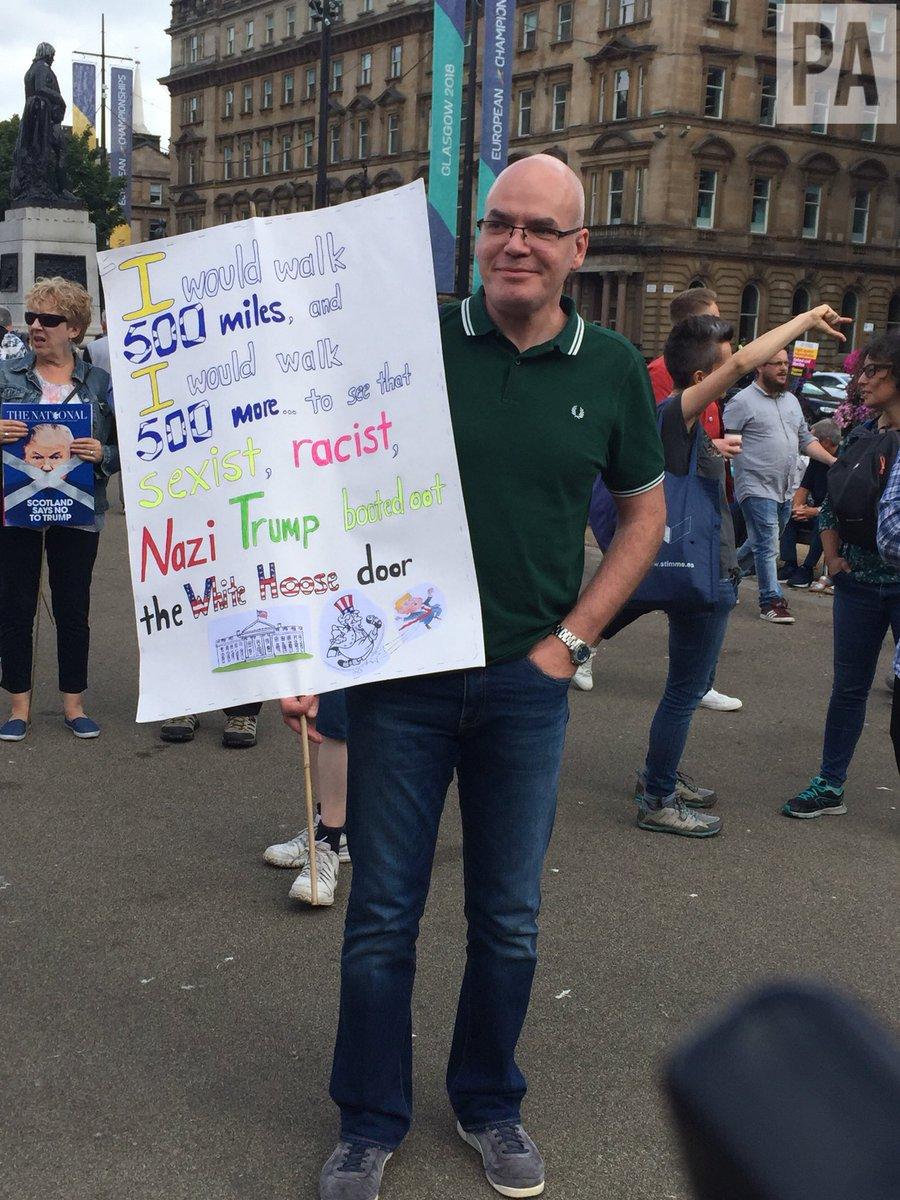 ترامپ در اسکاتلند هم با اعتراض مردمی روبرو شد