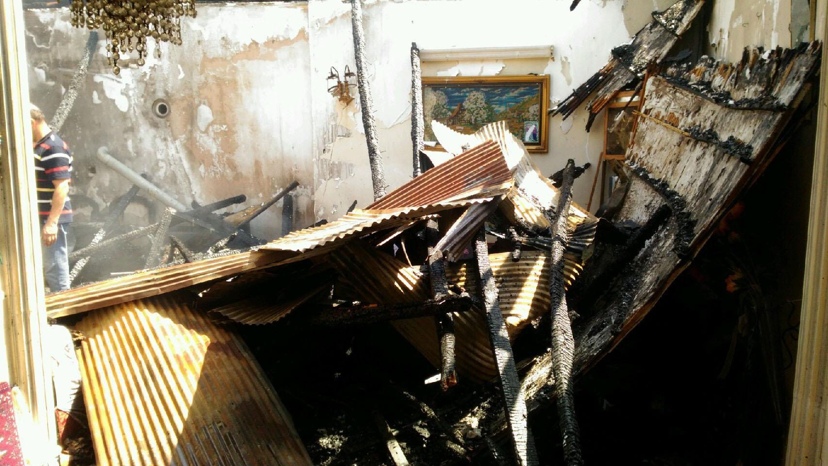 آتشسوزی منازل مسکونی در آستان اشرفیه + فیلم و تصاویر