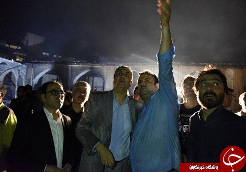 زخمی شدن ۷ آتش نشان در آتش سوزی مسجد جامع ساری + تصاویر