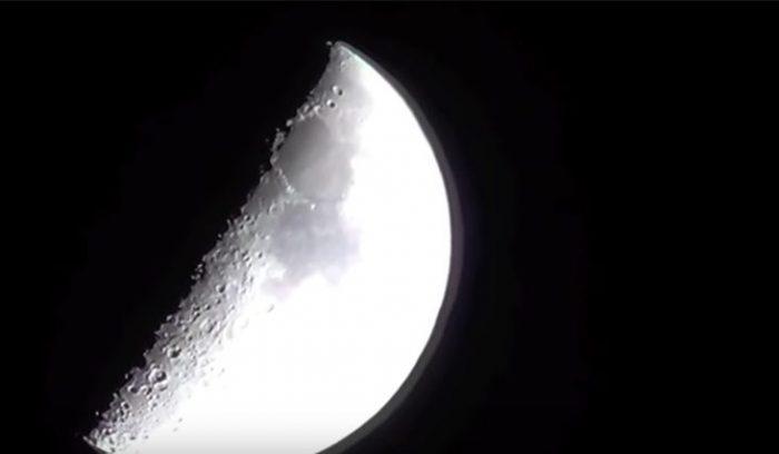 رفت و آمد مشکوک چندین یوفو به ماه ! فیلم//
