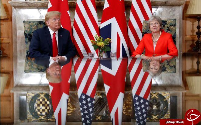 تصاویر روز: از دیدار رئیس جمهور آمریکا و نخست وزیر انگلیس تا مانور «پیکانهای سرخ» در گلاسترشر