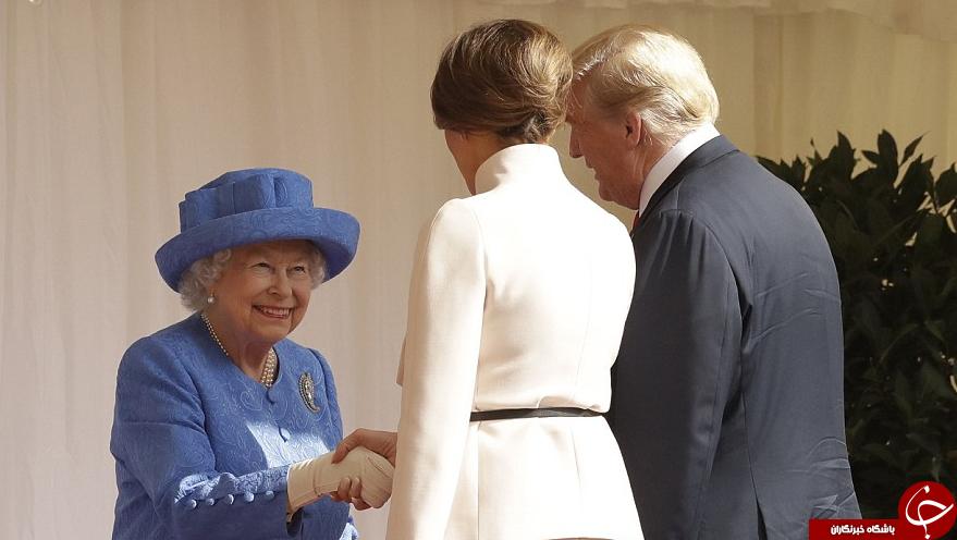سنتشکنیهای ترامپ در دیدار با ملکه انگلیس سوژه شد! + تصاویر