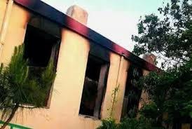 طالبان دو مکتب را در لوگر به آتش کشیدند