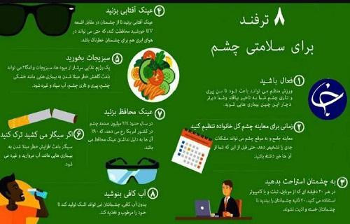 خبرنگار: زارع/با این 8 ترفند سلامت چشمهای خود را حفظ کنید + اینفوگرافی