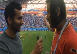 صحبتهای میثاقی از حال و هوای استادیوم پس از پیروزی بلژیک در برابر انگلیس +فیلم