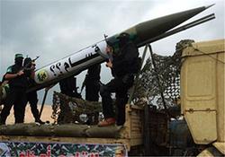 لحظه انفجار موشک فلسطینیها در سرزمینهای اشغالی + فیلم