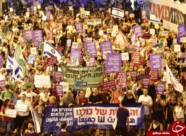 تظاهرات در تلآویو در اعتراض به لایحه جنجالی کنست+ تصاویر