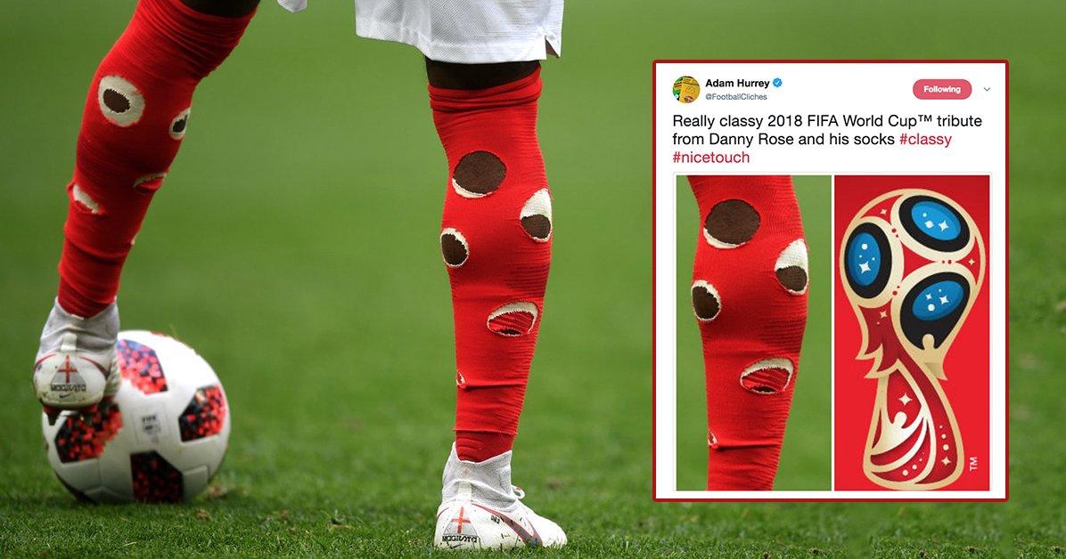 جورابهای سوراخ بازیکن انگلیس سوژه رسانهها+عکس