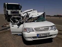 حادثه خونین جاده قم گرمسار با سه کشته