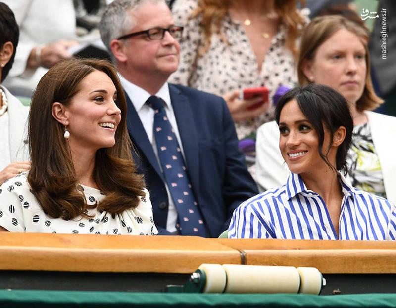 وقتی جاری های سلطنتی تنیس تماشا می کنند!+ عکس