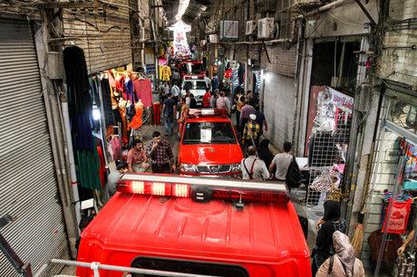 آتش سوزی بازار تهران مهار شد