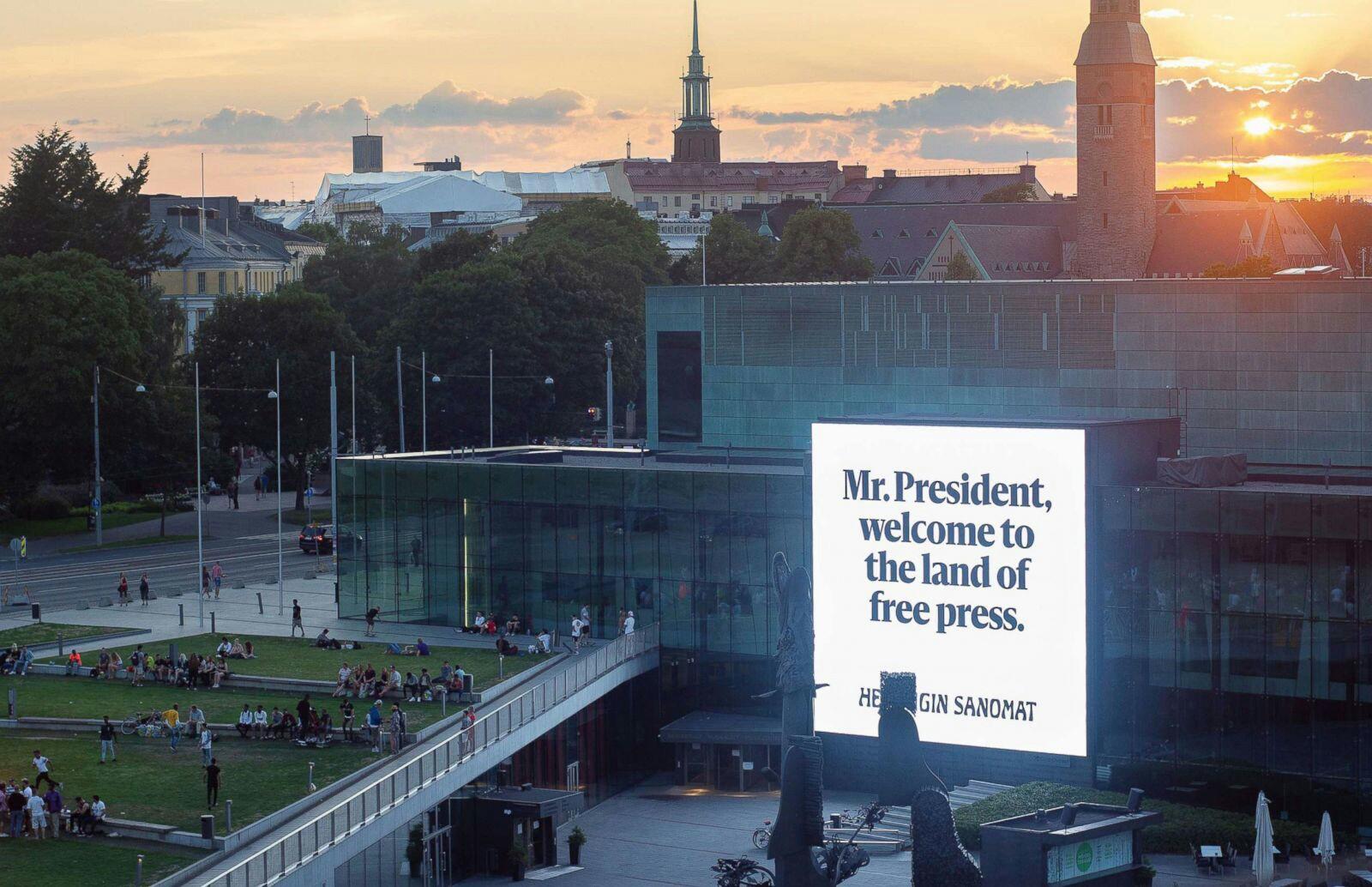 ترامپ وارد پایتخت فنلاند شد