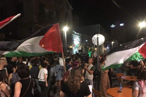 تظاهرات گسترده در «حیفا» در همبستگی با ساکنان نوارغزه