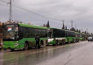 آغاز انتقال تروریستها و خانوادههایشان از درعا به مقصد ادلب سوریه