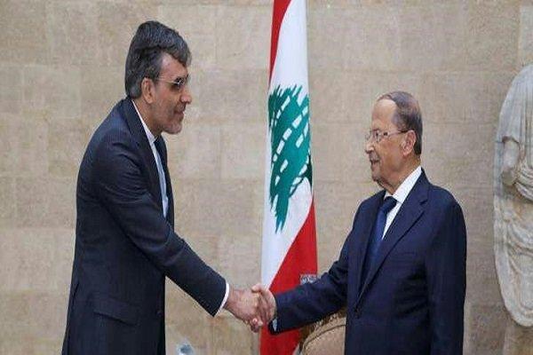 جابری انصاری با رئیسجمهور لبنان دیدار کرد