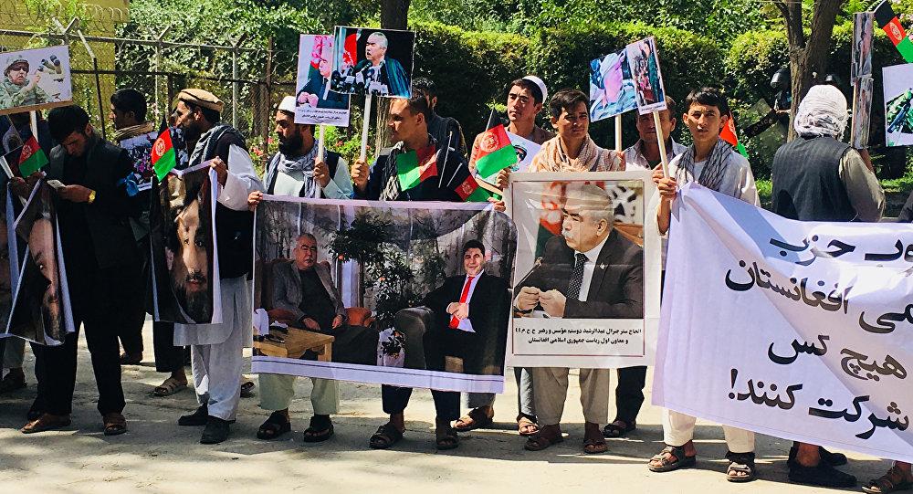 حمله ناکام انتحاری به تجمع حامیان جنرال دوستم در کابل