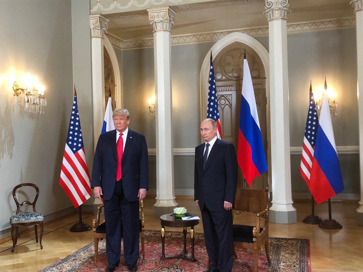 دیدار ترامپ و پوتین در کاخ ریاستجمهوری فنلاند+ تصاویر