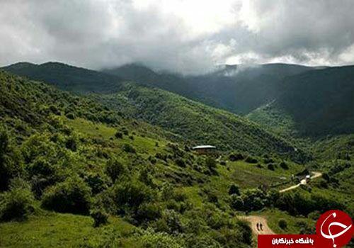 چشماندازی از طبیعت بینظیر در روستای زرشک + تصاویر