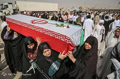 باشگاه خبرنگاران -ورود پیکر مطهر ۷۵ شهید دفاع مقدس از مرز شلمچه