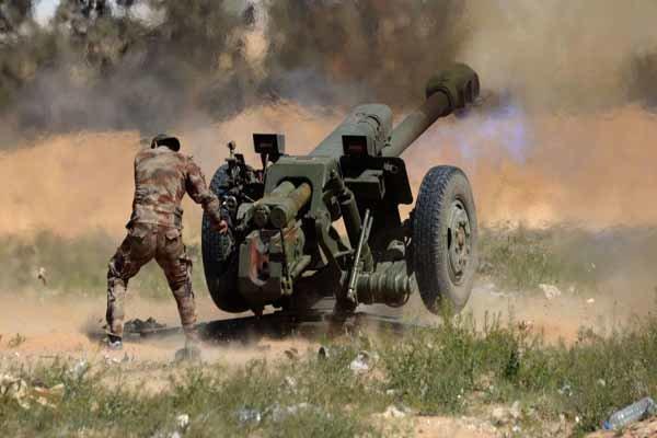 باشگاه خبرنگاران -مواضع تروریستها در حومه درعا زیر  آتش سنگین ارتش سوریه
