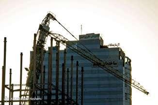 واژگونی جرثقیل ساختمانی در کرج