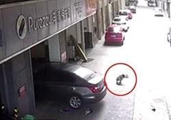 پدری که پسربچه 3 ساله اش را با خودرو زیر گرفت+ فیلم