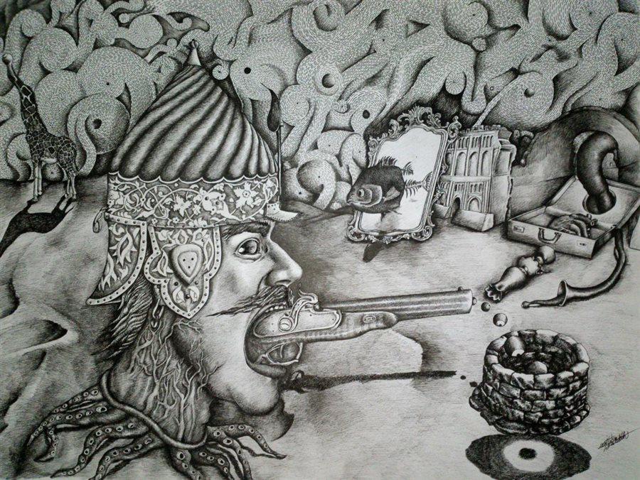 «زیستن درون مرگ»در گالری سیحون روی دیوار می رود