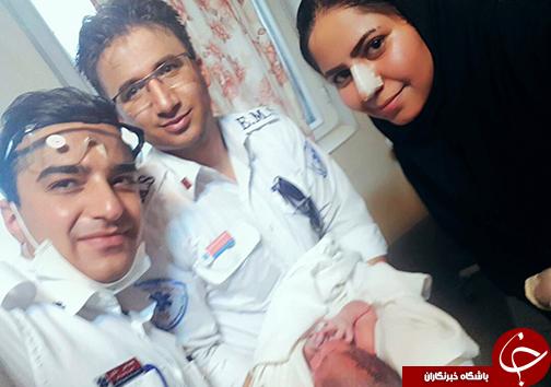 با تلاش بهموقع تکنسینهای اورژانس شیراز انجام شد؛ نجات جان مادر از خطر و تولد یک نوزاد در داخل آمبولانس + عکس