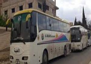 باشگاه خبرنگاران -ورود ۱۰ دستگاه اتوبوس به حومه قنیطره برای انتقال تروریستهای مسلح