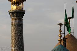 آیین تعویض پرچم گنبد حرم حضرت عبد العظیم (ع)