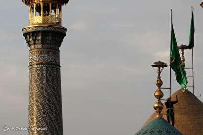 باشگاه خبرنگاران -آیین تعویض پرچم گنبد حرم شاه عبد العظیم (ع)
