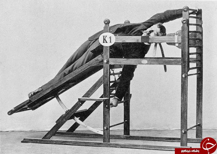 نخستین دستگاه های بدنسازی که با ماشین های شکنجه اشتباه گرفته می شود+ تصاویر