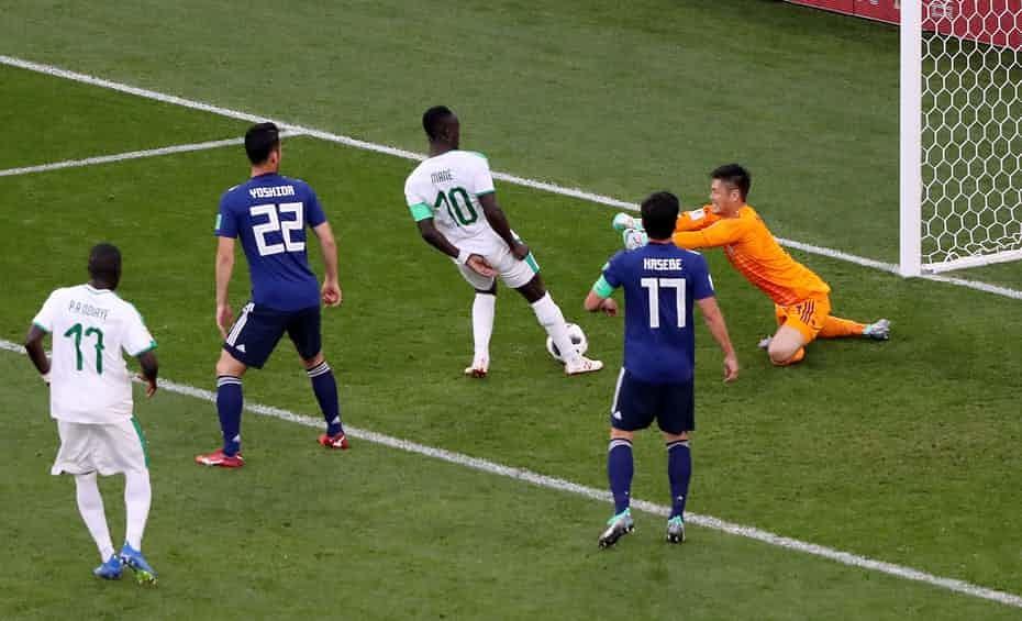 پایان نیمه نخست/ ژاپن ۱ - سنگال ۱