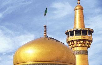 خادمی که مخصوص شستشوی گنبد طلایی بارگاه امام رضا(ع) است +فیلم