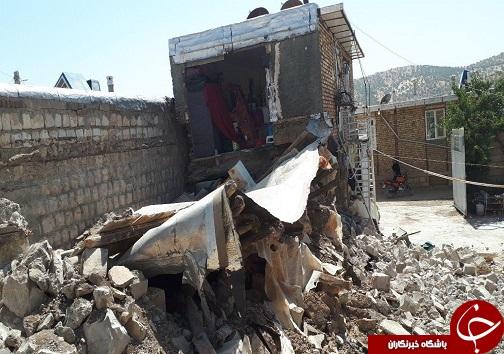 زلزله ۵.۹ ریشتری تازه آباد را لرزاند / آماده باش کامل نیروهای امدادی/ زلزله کرمانشاه ۲۵ مصدوم داشت + تصاویر
